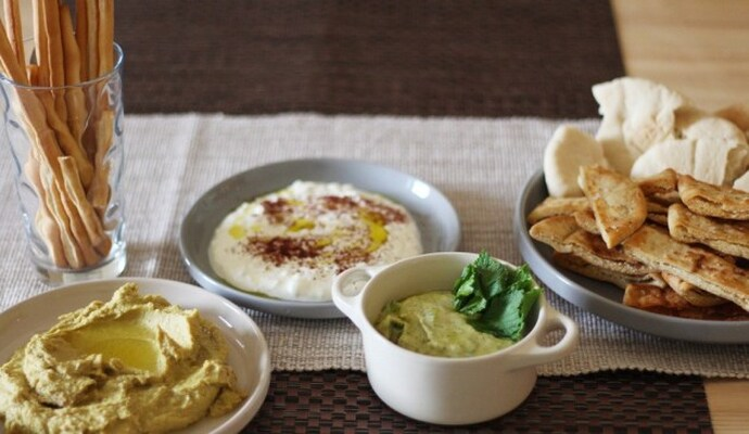 5 Side dished to make you the ultimate host - Trio of dips